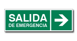 SALIDA DE EMERGENCIA CON FLECHA