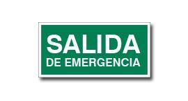 SALIDA DE EMERGENCIA SIN FLECHA