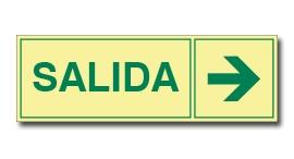 SALIDA CON FLECHA (FOTOLUMINISCENTE)