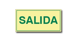 SALIDA SIN FLECHA (FOTOLUMINISCENTE)