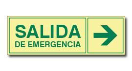 SALIDA EMERGENCIA CON FLECHA (FOTOLUMINISCENTE)