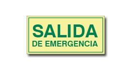 SALIDA DE EMERGENCIA SIN FLECHA (FOTOLUMINISCENTE)