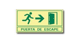 PUERTA DE ESCAPE (FOTOLUMINISCENTE)