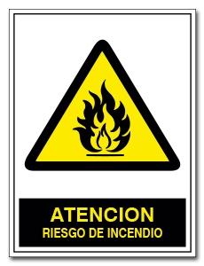 ATENCION RIESGO DE INCENDIO