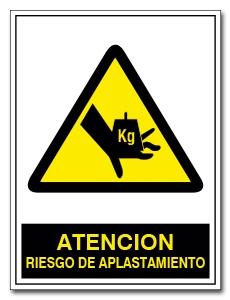 ATENCION RIESGO DE APLASTAMIENTO