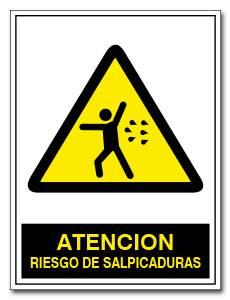 ATENCION RIESGO DE SALPICADURAS