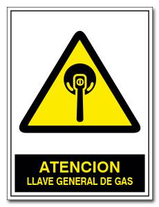 ATENCION LLAVE GENERAL DE GAS
