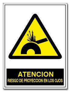 ATENCION RIESGO DE PROYECCION EN LOS OJOS