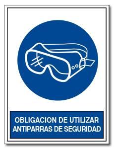 OBLIGACION DE UTILIZAR ANTIPARRAS DE SEGURIDAD