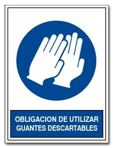 OBLIGACION DE UTILIZAR GUANTES DESCARTABLES