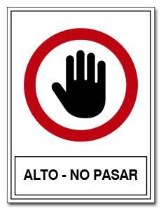 ALTO NO PASAR