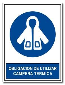 OBLIGACION DE UTILIZAR CAMPERA TERMICA