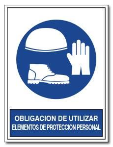 OBLIGACION DE UTILIZAR ELEMENTOS DE PROTECCION PERSONAL