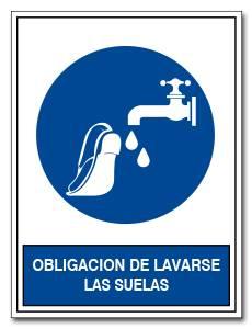 OBLIGACION DE LAVARSE LAS SUELAS