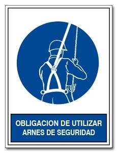 OBLIGACION DE UTILIZAR ARNES DE SEGURIDAD