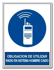 OBLIGACION DE UTILIZAR RADIO ON SISTEMA HOMBRE CAIDA