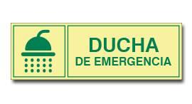 DUCHA DE EMERGENCIA (FOTOLUMINISCENTE)