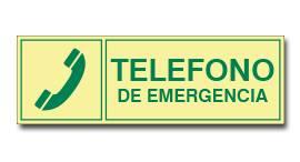 TELEFONO DE EMERGENCIA (FOTOLUMINISCENTE)