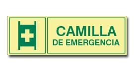CAMILLA DE EMERGENCIA (FOTOLUMINISCENTE)