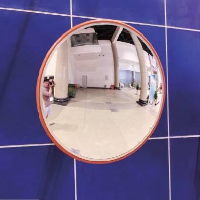 Espejo Parabólico De Seguridad Con Marco de Aluminio Diámetro 45 y 60 Cm