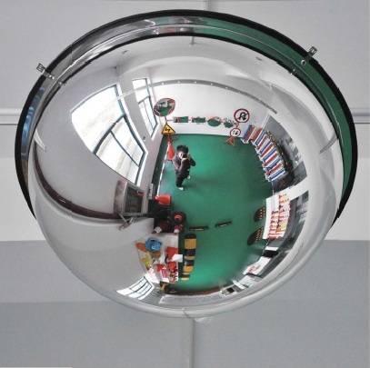 Espejo convexo visi n 360 grados di metro 80 y 100 cm for Espejo concavo precio