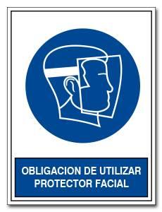 OBLIGACION DE UTILIZAR PROTECTOR FACIAL