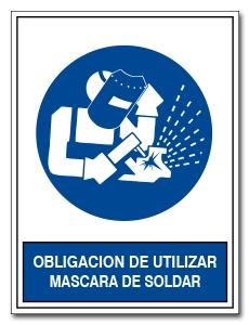 OBLIGACION DE UTILIZAR MASCARA DE SOLDAR