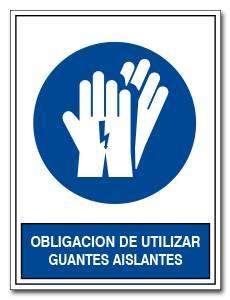 OBLIGACION DE UTILIZAR GUANTES AISLANTES