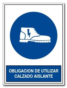 OBLIGACION DE UTILIZAR CALZADO AISLANTE
