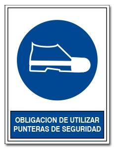 OBLIGACION DE UTILIZAR PUNTERAS DE SEGURIDAD