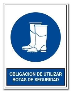 OBLIGACION DE UTILIZAR BOTAS DE SEGURIDAD