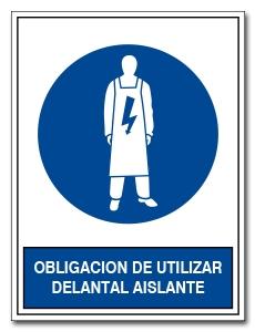 OBLIGACION DE UTILIZAR DELANTAL AISLANTE