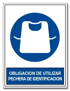 OBLIGACION DE UTILIZAR PECHERA DE IDENTIFICACION