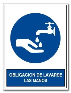 OBLIGACION DE LAVARSE LAS MANOS