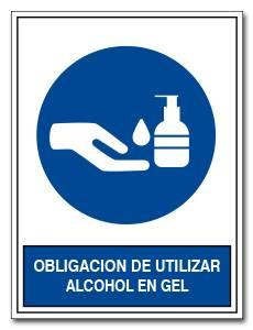 OBLIGACION DE UTILIZAR ALCOHOL EN GEL