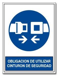 OBLIGACION DE UTILIZAR CINTURON DE SEGURIDAD