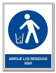 ARROJE LOS RESIDUOS AQUI