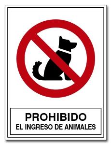 PROHIBIDO EL INGRESO DE ANIMALES
