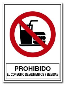 PROHIBIDO EL CONSUMO DE ALIMENTOS Y BEBIDAS