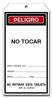 TARJETA NO TOCAR