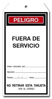 TARJETA FUERA DE SERVICIO